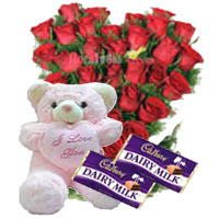 Filgiftshop Recommend This Product Red Roses With Cadbury Dairy