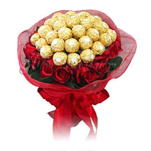 how to make ferrero rocher roses bouquet