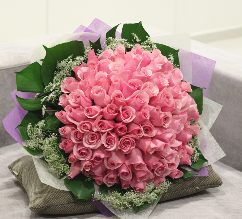 Filgiftshop pink rose bouquet