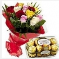 Mix Roses With Ferrero Rocher