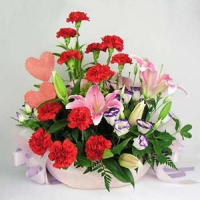 Flowes For Mother Basket