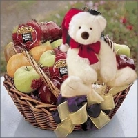 Bear and Goodies on a Basket#1