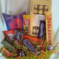 Chocolate Basket (10 items) with 24 ferrero