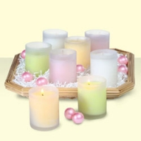 Mixed colour candle