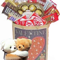 A bag of chocolates