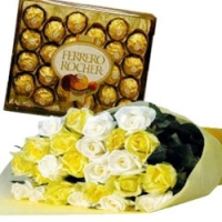 mix rose w/ ferrero