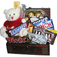 chocolate w/bear in a basket