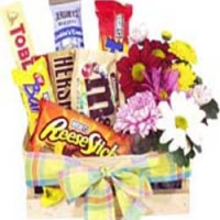 Chocolate basket w/flower