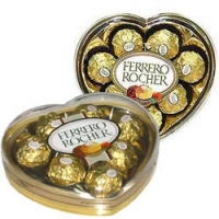 2 heart ferrero chocolate