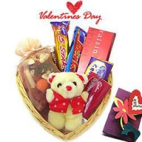 Heart choclate basket