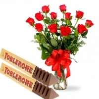 Red Roses  n Toblorone Chocolates